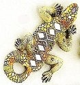 Kubla 344 Lizard Set of 3 Mosaic Wall Hanging