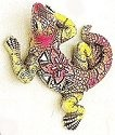 Kubla 345 Lizard Set of 3 Mosaic Wall Hanging