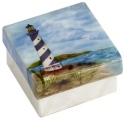 Kubla Crafts Capiz KUB 1-1292 Lighthouse Capiz Box