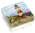Kubla Crafts Capiz KUB 1-1293 Lighthouse Capiz Box