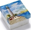 Kubla Crafts Capiz KUB 1-1786 Lighthouse Capiz Box