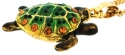 Kubla Crafts Bejeweled Enamel KUB 1-4178GN Green Sea Turtle Necklace