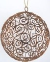 Kubla 100 Antique Gold Wire Ball Set of 6