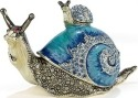 Kubla Crafts Bejeweled Enamel KUB 11-3660 Jewelled Snail Box