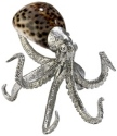 Kubla Crafts Bejeweled Enamel KUB 1143 Octopus Shell Sculpture