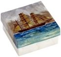 Kubla Crafts Capiz KUB 1238 Sailing Ship Capiz Large Box