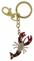 Kubla Crafts Bejeweled Enamel KUB 1462 Key Ring Lobster