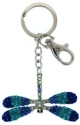 Kubla Crafts Bejeweled Enamel KUB 1494 Key Ring Dragonfly