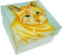 Kubla Crafts Capiz KUB 1558 Cat Capiz Box