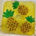 Kubla Crafts Capiz KUB 2-1320D Pineapple Fused Glass Plate