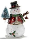 Kubla Crafts Bejeweled Enamel KUB 2-3341 Snowman Box