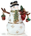 Kubla Crafts Bejeweled Enamel KUB 2-3355 Snowman Box