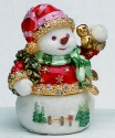 Kubla Crafts Bejeweled Enamel KUB 2-4093R Red Jingle Snowman Box