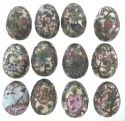 Kubla Crafts Cloisonne KUB 2-4324 Cloisonne Egg Set of 12