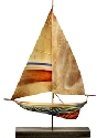 Kubla Crafts Capiz KUB 2161 Capiz Metal Sailboat Tabletop