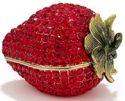 Kubla Crafts Bejeweled Enamel KUB 23-3291 Strawberry with Crystals Box