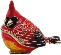 Kubla Crafts Bejeweled Enamel KUB 3073 Cardinal Box