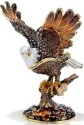 Kubla Crafts Bejeweled Enamel KUB 31-3765 Bald Eagle Large Box
