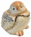 Kubla Crafts Bejeweled Enamel KUB 3121 Chick Box