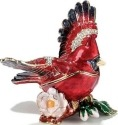 Kubla Crafts Bejeweled Enamel KUB 32-3432 Cardinal Flying Box