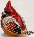 Kubla Crafts Bejeweled Enamel KUB 32-3921 Cardinal Box with Austrian Crystal