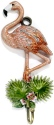 Kubla Crafts Bejeweled Enamel KUB 3216 Flamingo Wall Hook