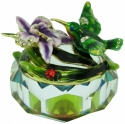 Kubla Crafts Bejeweled Enamel KUB 3256 Hummingbird Glass Box