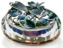 Kubla Crafts Bejeweled Enamel KUB 3257 Enamel Top Glass Dragonfly