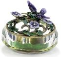 Kubla Crafts Bejeweled Enamel KUB 3260 Hummingbird Glass Box