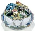 Kubla Crafts Bejeweled Enamel KUB 3264 Enamel Top Glass Dragonfly Box