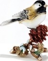 Kubla Crafts Bejeweled Enamel KUB 33-3310 Chickadee Box