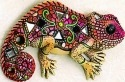 Kubla 350 Chameleon Set of 3 Mosaic Wall Hanging