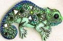 Kubla 351 Chameleon Set of 3 Mosaic Wall Hanging