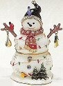 Kubla Crafts Bejeweled Enamel KUB 3729 Snowman with Birds Box