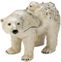 Kubla Crafts Bejeweled Enamel KUB 3797 Polar Bear and Baby Large Box