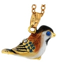 Kubla Crafts Bejeweled Enamel KUB 3810N Chickadee Necklace