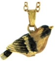 Kubla Crafts Bejeweled Enamel KUB 3977N Goldfinch Necklace