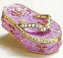 Kubla Crafts Bejeweled Enamel KUB 3991PU Purple Flip Flop Box