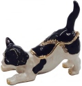 Kubla Crafts Bejeweled Enamel KUB 4-3072 Kitten Box