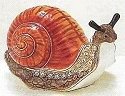 Kubla 4005B Snail Jeweled Box - Orange