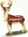 Kubla Crafts Bejeweled Enamel KUB 4066 Buck Deer Box