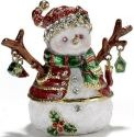 Kubla Crafts Bejeweled Enamel KUB 4098R Snowman Box