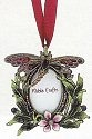 Kubla Crafts Bejeweled Enamel KUB 4108 Mini Dragonfly with Gems Frame