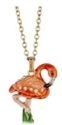 Kubla Crafts Bejeweled Enamel KUB 4166N Flamingo Necklace