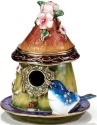 Kubla Crafts Bejeweled Enamel KUB 44-3343 Bluebird House Box
