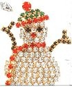 Kubla Crafts Bejeweled Enamel KUB 4537 Twig Arm Snowman Brooch