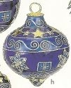 Kubla Crafts Cloisonne KUB 4656BS Blue Finial