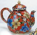 Kubla 4940R Teapot Red Cloissonne