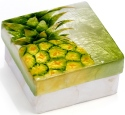 Kubla Crafts Capiz KUB 5-1710 Capiz Box Pineapple