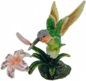 Kubla Crafts Bejeweled Enamel KUB 5-3103 Hummingbird Box